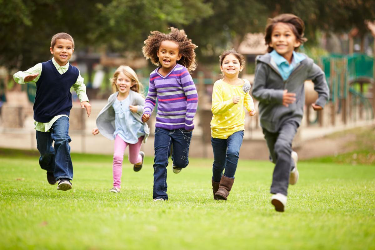 Children Running in a Park