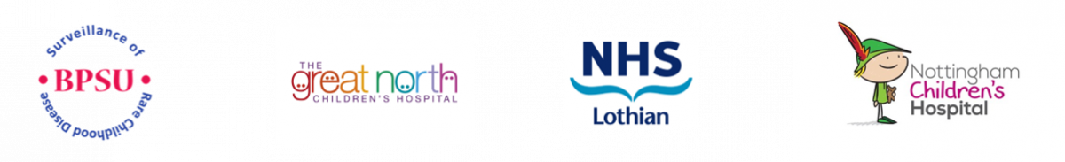 Logos: BPSU, The Great North Children's Hospital, NHS Lothian, Nottingham Childrens's Hospital